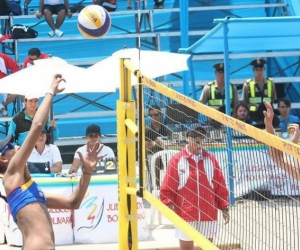 Voleibol playa en Santa Marta.