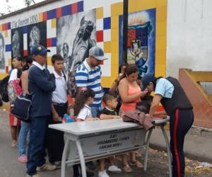 Paso de escolares en la frontera