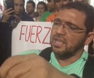 Rafael Martínez transmitió en vivo desde el aeropuerto de Santa Marta.