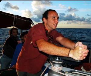 Nufar Charuvi, recién llegado a Taganga, años atrás. Siempre trabajó por los ecosistemas marinos de esta zona.