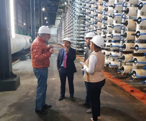 El alcalde Rafael Martínez cómo funcionan las plantas desalinizadoras en Israel.