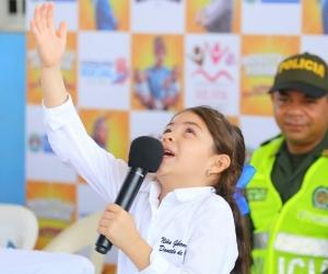 Daniela Parada, niña Gobernadora de Santa Ana, Magdalena