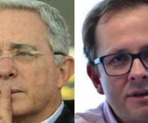 Álvaro Uribe y Andrés Felipe Arias.