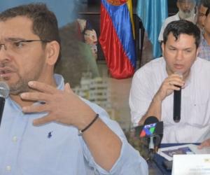 El alcalde titular Rafael Martínez y el alcalde encargado Adolfo Torné
