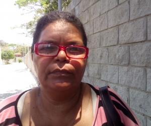 Julia Cantillo denunció que fue agredida por la Policía.