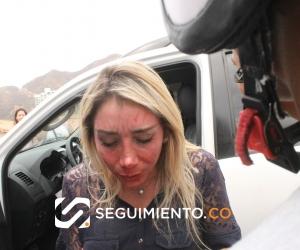 La juez Nidia Sarmiento, agredida.