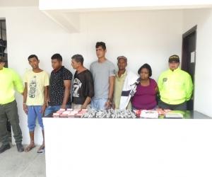 Estos son los seis capturados por la Policía.