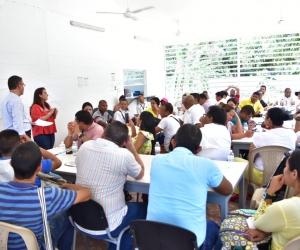 Los funcionarios del orden nacional, departamental y municipal hicieron el acompañamiento técnico y metodológico.