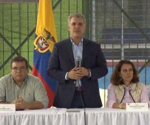 Duque en reunión en el Cauca