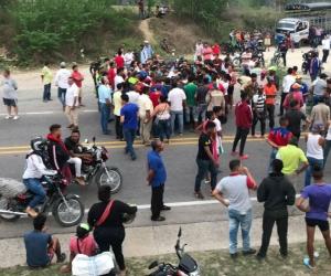 Habitantes de Santa Rosalía protestaban por la falta de agua.