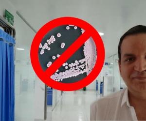 Abraham Katime Zúñiga, infectólogo samario, dio tranquilidad a la comunidad samaria sobre la presencia del hongo asesino.