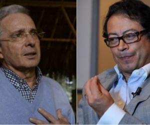 Álvaro Uribe y Gustavo Petro.