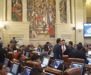 Recinto de la Cámara de Representantes.