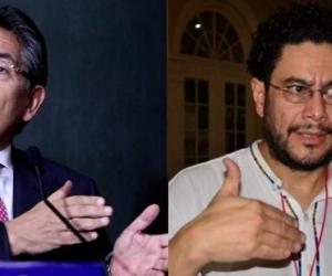 El Fiscal General Néstor Humberto Martínez y el senador Iván Cepeda.