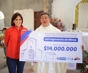 La gobernadora Rosa Cotes donó $14.000 millones de pesos para el templo.