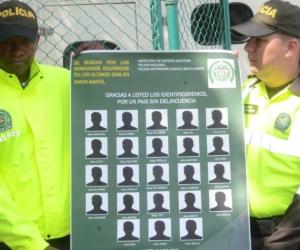 Este el cartel con los alias de los 23 sicarios más buscados en Santa Marta.