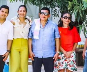 Andrés Alfonso Zuleta y su familia.