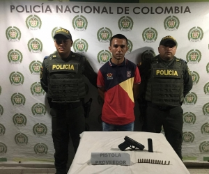Douglas Antonio Ramírez Ramírez, capturado por porte ilegal de arma