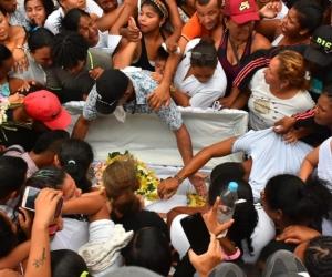 Sepelio de la niña María José Ortega Ballesta