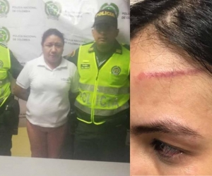 Olga Monterrosa Morales, capturada por lesiones personales.