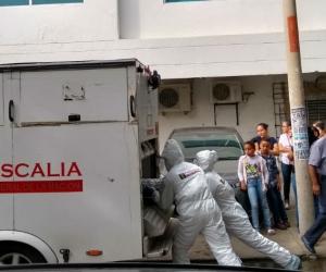 El CTI hizo el levantamiento del cadáver de Aníbal Quintero Moreno.