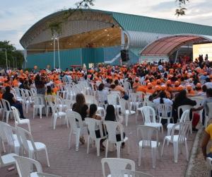 Panorama de la plaza de la concentración de Fuerza Ciudadana en Santa Marta.