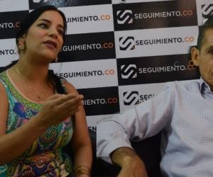 Anabel Zúñiga, alta Consejera para la Paz y el Posconflicto y el líder Wilman de Jesús Collantes.