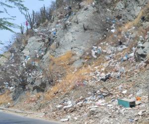 Así luce el cerro ubicado en la calle 22 con carrera 13.