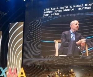 Barack Obama durante conferencia en Bogotá