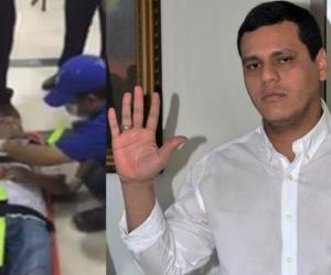 César Mercado Durán (derecha) no ha podido ocupar el cargo de secretario de Gobierno por la incapacidad de Adolfo Bula..