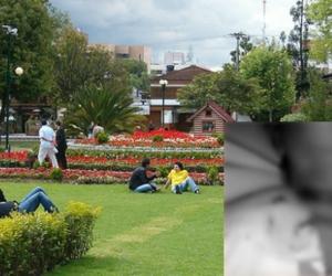 Imagen del parque de la 93 y de la herida de la victima