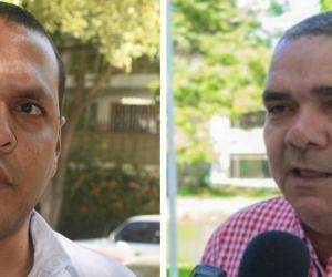 personero del Distrito, Chadán Rosado Taylor y José Manjarres Fontalvo, Alto Consejero para la Sierra Nevada y la zona rural en el Distrito.