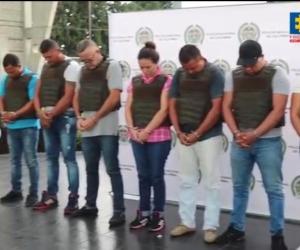 . Los 14 presuntos integrantes de la red fueron capturados con fines de extradición.