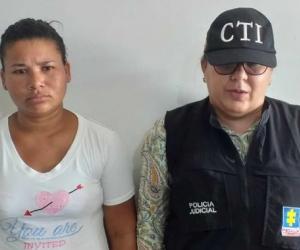 Raiza Paola Querubin Rángel, la capturada.