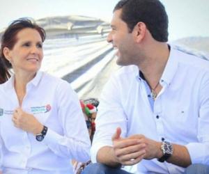 Gobernadora Rosa Cotes y exgobernador, Luis Miguel Cotes.