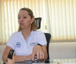 Ingrid Aguirre, gerente de la Essmar.