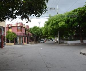 En esta calle fue atracado el joven, cuando llevaba a su hija de un año a una guardería.