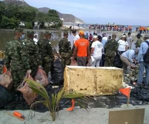 Ejército Nacional participa en la Playatón y Oxigenación de la playa Los Cocos de este sábado