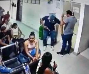 El asaltante sometió solo al empleado del centro asistencial, con los pacientes no se metió.