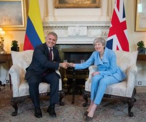 Iván Duque, visitó este lunes a la Primera Ministra del Reino Unido, Theresa May