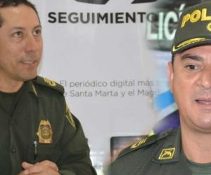 Gustavo Berdugo (iz), comandante de la Mesan, y Fáber Dávila (der), comandante de la Demag.