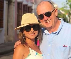 Jota Mario (QEPD) y su esposa, Gineth Fuentes