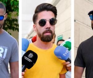 Tres de los cinco integrantes de 'La Manada'.