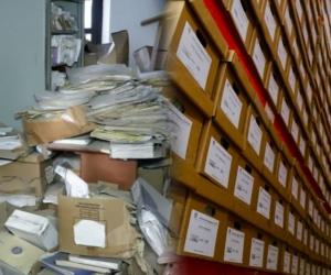 A la izquierda, el cuestionado archivo de la Alcaldía; a la derecha, el archivo de la Gobernación.