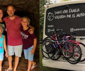 La familia Percivaldi está recorriendo Suramérica desde hace 10 meses.
