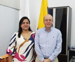 Zugel Camargo se posesionó este lunes como secretaria General del Distrito.