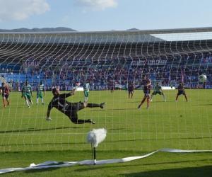 En el primer semestre el Unión con gol de Márquez se quedó con los tres puntos.