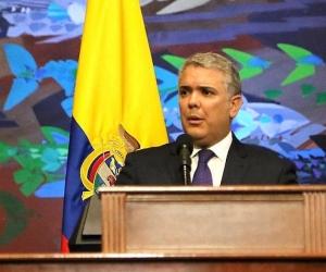 El presidente Iván Duque en la instalación de las sesiones del Congreso.