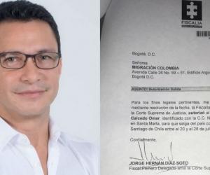 Carlos Caicedo obtuvo un permiso de la Fiscalía para salir del país.