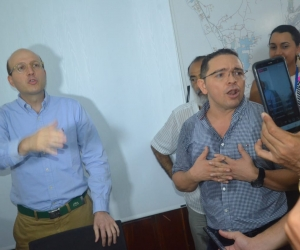 Rafael Martínez en su encuentro con Andrés Rugeles.